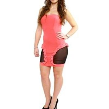 Adecco Playgirl Dress Coral