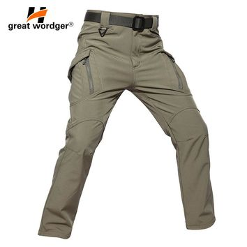 IX9 Men Winter Tactical Pants Mens Waterproof Cargo Pants Military Thicken Warm Camping Hiking Pants Army Combat Trousers