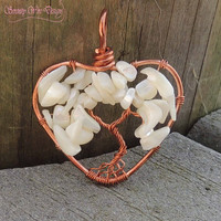 Mother's Day Mother of Pearl Tree of Life Pendant