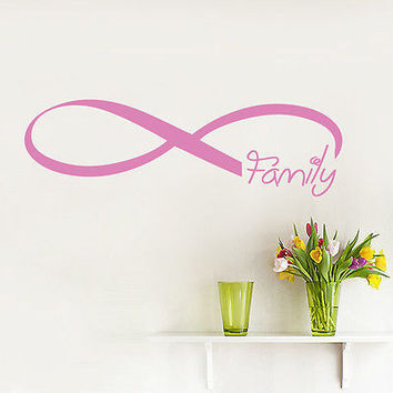 Wall Decals Infinity Symbol Family Quote Loop Vinyl Sticker Bedroom Decor DA3809