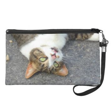 Goofball Upside Down Kitty Wristlet Purse