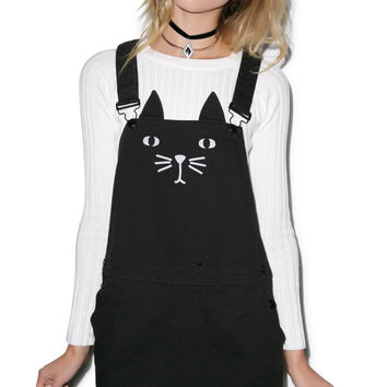 Lazy Oaf Cat A Fore Pinafore Black