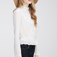 Embroidered High-Neck Blouse