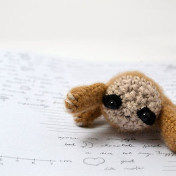 sloth amigurumi crochet plush toy