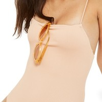 Topshop Straight Neck Rib One-Piece Swimsuit | Nordstrom