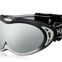 Unisex UV Protection Anti-Fog Sports Ski Goggles (Silver)