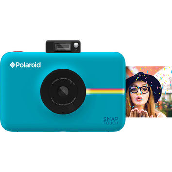 Snap Touch Instant Digital Camera with ZINK Photo Paper and Pouch Kit (Blue)