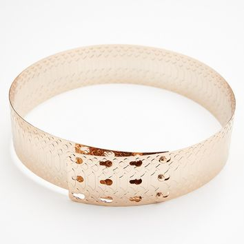 Free People Snake Stamped Metal Belt