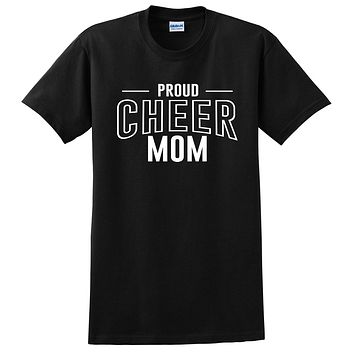 Proud cheer mom team squad game day sport mom love cheerleading Mother's day T Shirt
