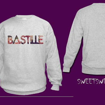 bastille flower sweater sweatshirt Unisex Women and Men