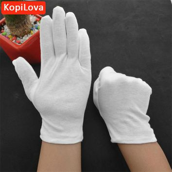 KopiLova Thicken White Cotton Gloves Performances Gloves Driver Safety Gloves Etiquette Reception Parade Gloves Free Shipping