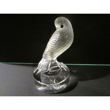 Lalique French Glass Bird With Signature