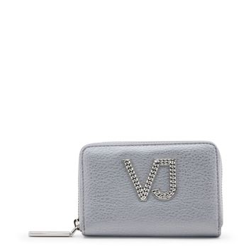 Versace Jeans Grey Synthetic Leather Purse