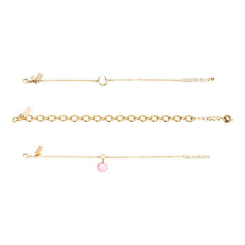 Kate Spade Things We Love Horseshoe Bracelet Set Pink Multi ONE