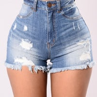 What The Fray Shorts - Medium Blue