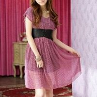 Young Style Red Plaid Juniors Dresses On Sale : Yoco-fashion.com