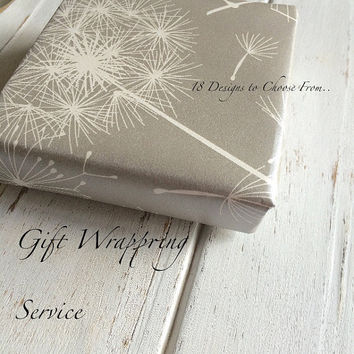 Gift Wrapping Service Add on - Choose from elegant to cute to modern... With bow tie
