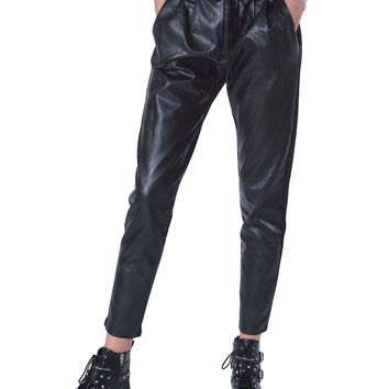 Double Trouble Trouser Pants - Black