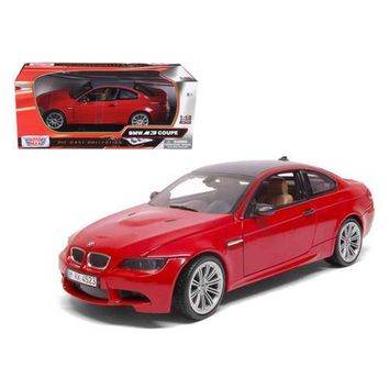 BMW M3 E92 Coupe Red 1/18 Diecast Car Model by Motormax