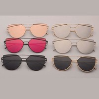 Cat Eyez Mirror Lens Aviator Sunglasses