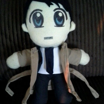 misha collins castiel plush Supernatural toy dean sam winchester SPN doll figure chibi plushie angel charm handmade crowley bobby