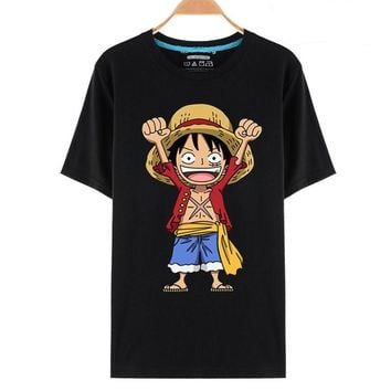 One Piece Chibi Luffy Monkey D Celebrate Anime T-Shirt