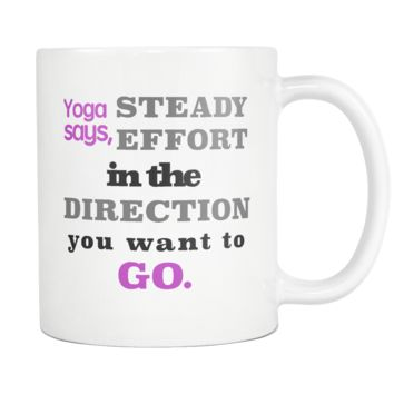 Yoga Inspiration Coffee Mug Stready Direction