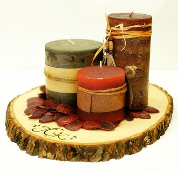 Wood Tree Slice Centerpieces or Trivets