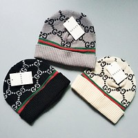 GUCCI Winter Trending Women Men Stylish Warm Knit Hat Cap