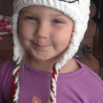 Super Cute and Cozy Snowmna Beanie/ Hat - Any Size Available