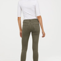 Shaping Skinny Regular Jeans - Khaki green - Ladies | H&M US