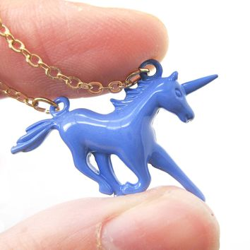 Unicorn Horse Animal Pendant Necklace in Purple | DOTOLY