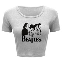With The Beatles - Ladies' Crop Top