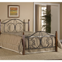 1422-milwaukee-wood-post-bed-twin-bed-frame-included - Free Shipping!