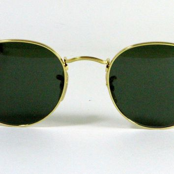 Cheap New Genuine Ray Ban 3447 001 Classic John Lennon Gold Sunglasses G-15 Lens 50mm