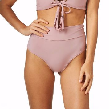 Montce Swim - Dusty Rose High Rise Bottom
