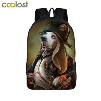 Cool Backpack school Cool Steampunk Animal Backpack Dog Rottweiler Pug Men Women Daily Backpack Boys Girls School Backpacks Cat Punk School Bags AT_52_3
