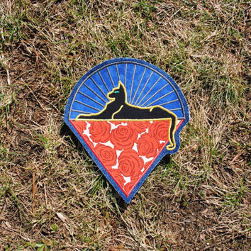 Limited Editon Grateful Dead Patch Jerry Garcia Band Cats Under the Stars Patch Handmade Applique Patch Chicago GD 50th anniversary LE roses