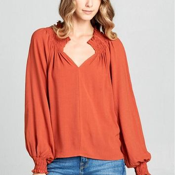 Women's Ruched Swing Top