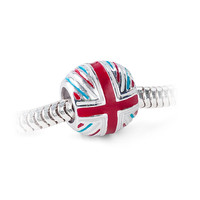 Union Jack Charm Bead - Charm Only