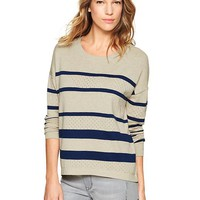 Gap Women Pointelle Stripe Sweater