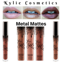 The New Kylie Lip Kit by kylie jenner Lipstick Liquid Lip Cream Real Matte Metal Matte Lip gloss 14 Colors
