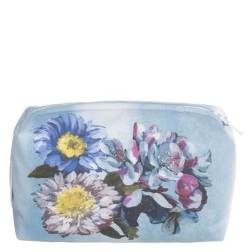 Designers Guild Delft Flower Sky Small Toiletry Bag