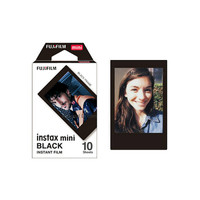 Fujifilm Instax Mini Film Plain Black Polaroid Instant Photo Color Instant Films
