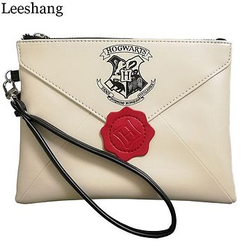Leessang New Harry Potter Letter From Hogwarts Wallet Woman Wristbands Hand Bag Female Zipper Clutch Party Purse Phone Bags