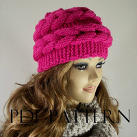 KNITTING HAT PATTERN Double Braided Hat Easy to make pdf pattern Instant Pattern Winter Hat