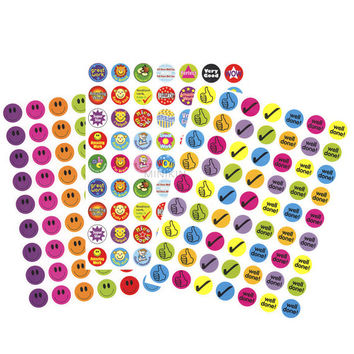 280 Childrens Kids Reward Stickers Smiley Faces School Teacher Merit Classroom