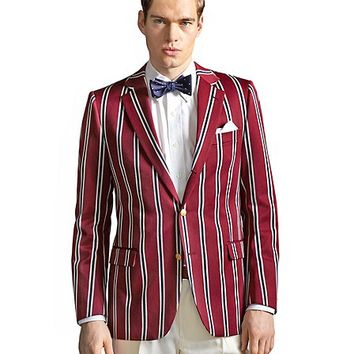 The Great Gatsby Collection Burgundy Stripe Regatta Blazer - Brooks Brothers