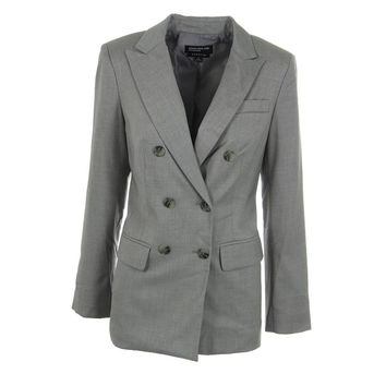 Jones New York Womens Double-Breasted Heathered Blazer