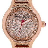 Women's Betsey Johnson Pave Crystal Bracelet Watch, 40mm